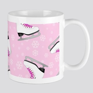 Pink Ice Skating Pattern Mug