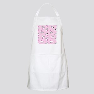 Pink Ice Skating Pattern Apron