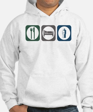 Cute Eat sleep law Hoodie