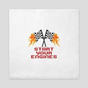 START YOUR ENGINES Queen Duvet