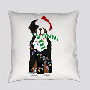 Christmas Bernese Mt Holiday Dog Everyday Pillow