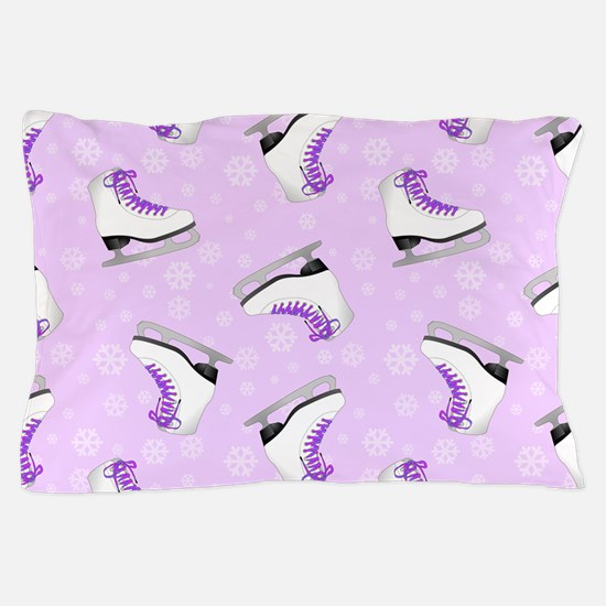 Purple Figure Skating Pattern Pillow Case