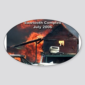 Sawtooth Fire in Pioneertown Oval Sticker