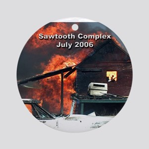 Sawtooth Fire in Pioneertown Ornament (Round)