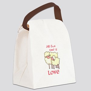 ALL EWE NEED IS LOVE Canvas Lunch Bag