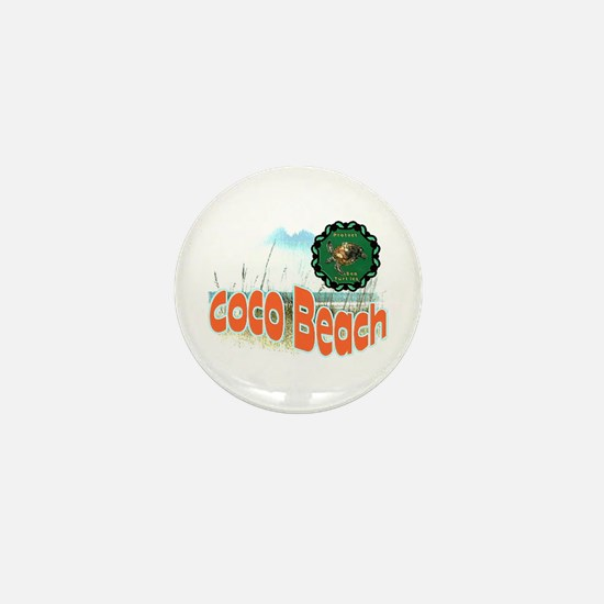 Coco Beach , Protect sea Turt Mini Button