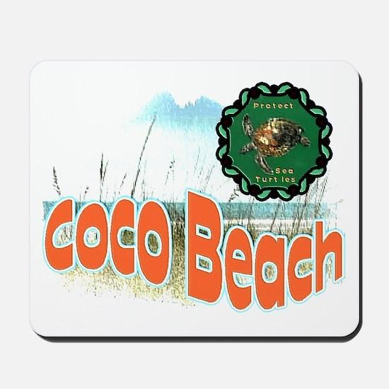 Coco Beach , Protect sea Turt Mousepad
