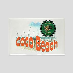Coco Beach , Protect sea Turt Rectangle Magnet