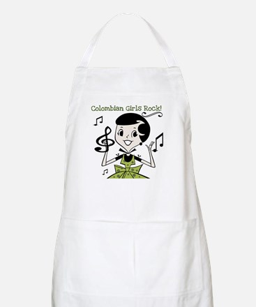 Colombian Girls Rock BBQ Apron