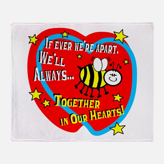 Be Together In Our Hearts Throw Blanket