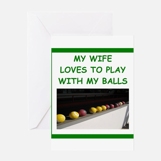 bocce Greeting Cards