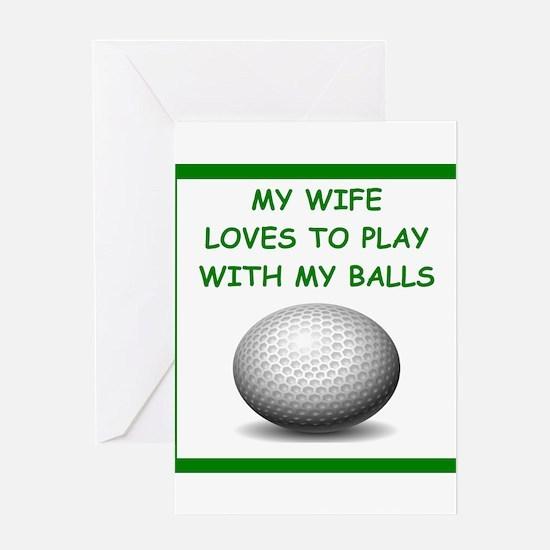 golf Greeting Cards