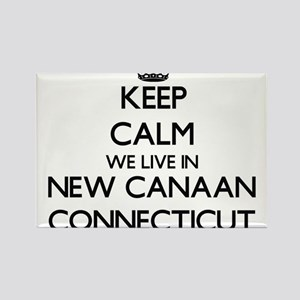 Keep calm we live in New Canaan Connecticu Magnets