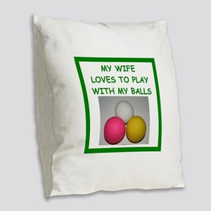 lacrosse Burlap Throw Pillow