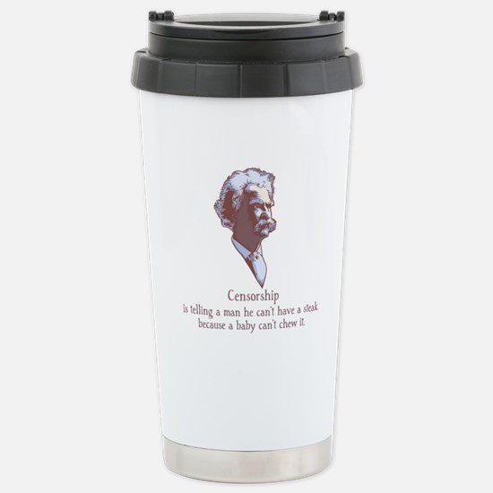 Twain - Censorship Stainless Steel Travel Mug