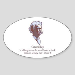 Twain - Censorship Sticker (Oval)