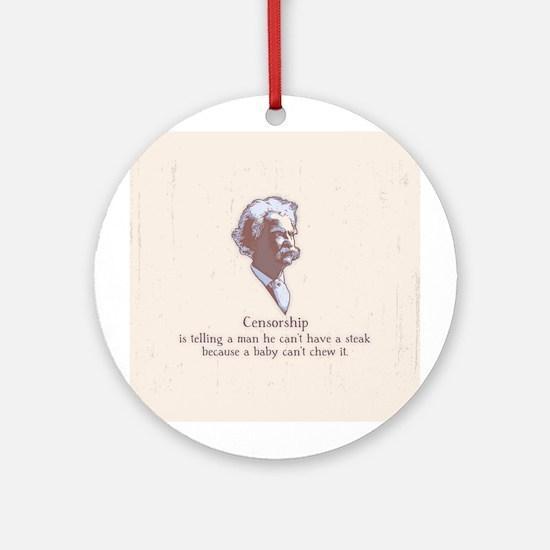Twain - Censorship Ornament (Round)