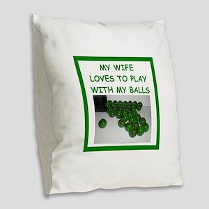 paintball Burlap Throw Pillow