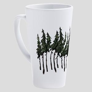 FOREST WINDY DAY 17 oz Latte Mug