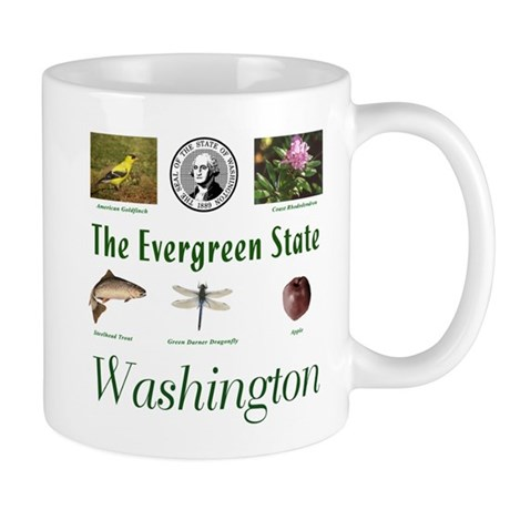 Evergreen State (green) Mug