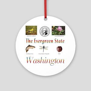 Evergreen State (rainbow) Ornament (Round)