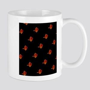 Black Orange Stingray Abstract Art for Tommy Mugs
