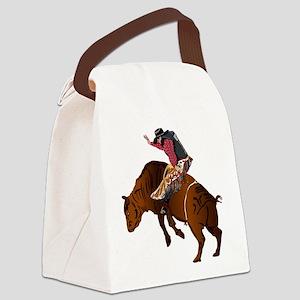 Cowboy - Bull Rider NO Text Canvas Lunch Bag