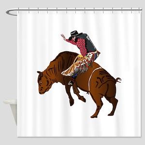 Cowboy - Bull Rider NO Text Shower Curtain