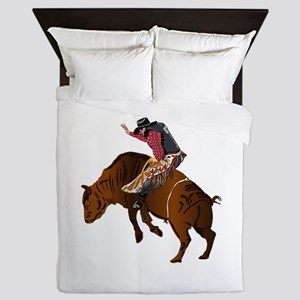 Cowboy - Bull Rider NO Text Queen Duvet