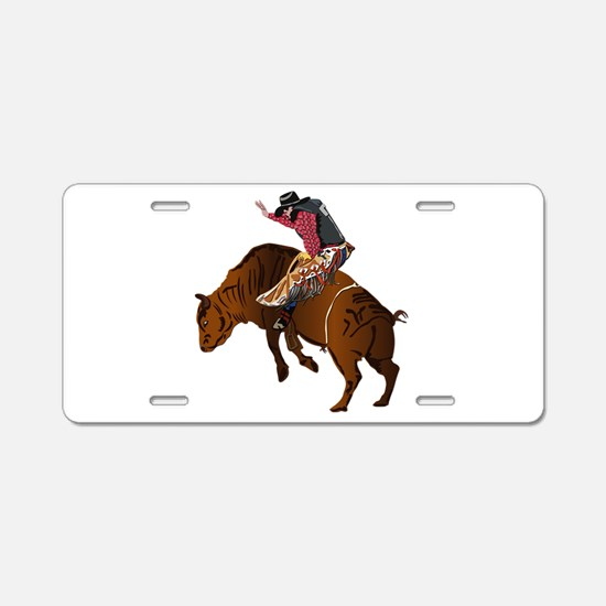 Cowboy - Bull Rider NO Text Aluminum License Plate