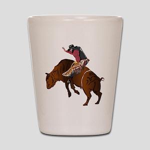 Cowboy - Bull Rider NO Text Shot Glass