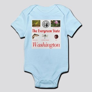 Evergreen State (red) Infant Bodysuit