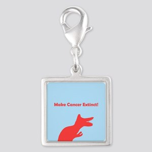Make Cancer Extinct Blue Dinosaur T-rex for Charms