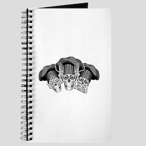 Three Wise Chef Skulls Journal