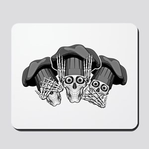 Three Wise Chef Skulls Mousepad