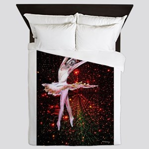 Dancer and stars, dance art Queen Duvet