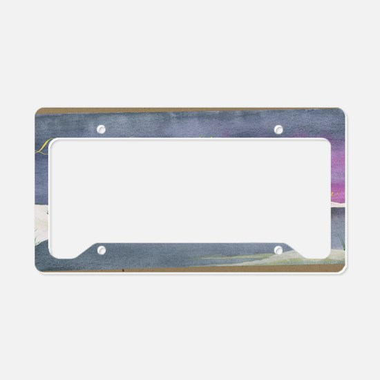 live in the sunshine License Plate Holder