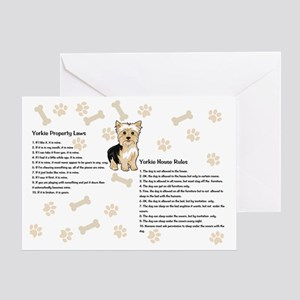 Yorkie House Rules Greeting Card