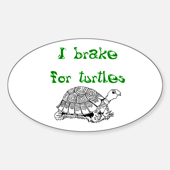 Cute Tortoise shell Sticker (Oval)