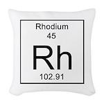 45. Rhodium Woven Throw Pillow