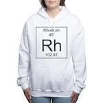 45. Rhodium Women's Hooded Sweatshirt