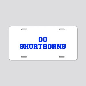 Shorthorns-Fre blue Aluminum License Plate