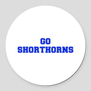 Shorthorns-Fre blue Round Car Magnet