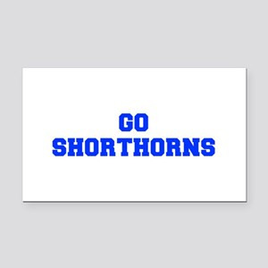 Shorthorns-Fre blue Rectangle Car Magnet