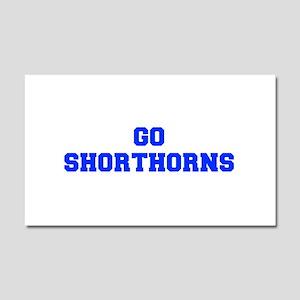 Shorthorns-Fre blue Car Magnet 20 x 12