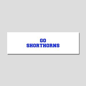 Shorthorns-Fre blue Car Magnet 10 x 3