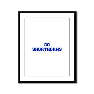 Shorthorns-Fre blue Framed Panel Print