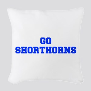 Shorthorns-Fre blue Woven Throw Pillow