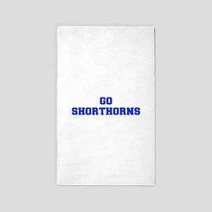 Shorthorns-Fre blue Area Rug