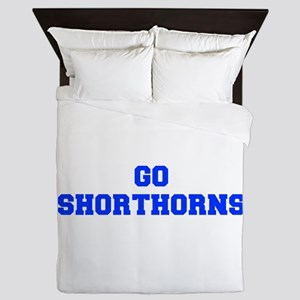 Shorthorns-Fre blue Queen Duvet